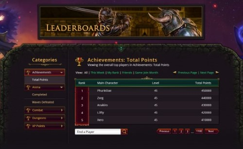 Leaderboard Preview